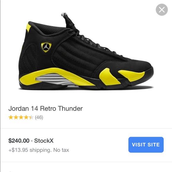 new product 791f6 5f116 Jordan 14 retro thunder